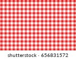 red gingham seamless pattern.... | Shutterstock .eps vector #656831572