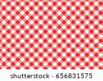 red gingham seamless pattern.... | Shutterstock .eps vector #656831575