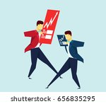 businessman passing by | Shutterstock .eps vector #656835295