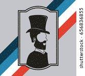 gentleman barber shop... | Shutterstock .eps vector #656836855