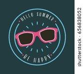 hello summer flat   Shutterstock .eps vector #656838052