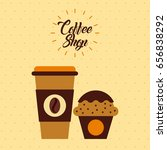 coffee delicious flat... | Shutterstock .eps vector #656838292