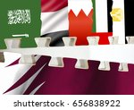 concept image of few gulf...   Shutterstock . vector #656838922