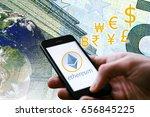 "concept of  ""ethereum""   a...   Shutterstock . vector #656845225"