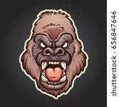 angry gorilla mascot. vector... | Shutterstock .eps vector #656847646