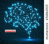 Technological Neon Brain....
