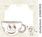 coffee cup. vector illustration.   Shutterstock .eps vector #656865832