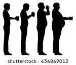 editable vector silhouette... | Shutterstock .eps vector #656869012