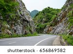 Mountain Road At Cat Ba Island...