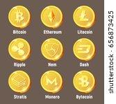 cripto currency logo coins ... | Shutterstock .eps vector #656873425