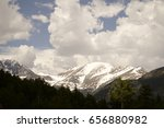 mountains and trees at rocky...   Shutterstock . vector #656880982