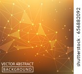 geometric graphic background.... | Shutterstock .eps vector #656882092