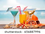 cocktail  a glass of orange... | Shutterstock . vector #656887996