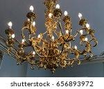 giltwood chandelier | Shutterstock . vector #656893972