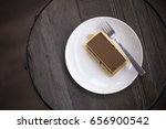 chocolate cake kitkat plate on... | Shutterstock . vector #656900542