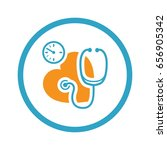 blood pressure icon. flat...   Shutterstock .eps vector #656905342