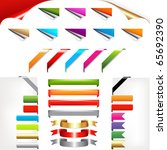 corners and ribbons  isolated... | Shutterstock .eps vector #65692390