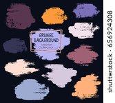 grunge brush stroke background...   Shutterstock .eps vector #656924308