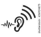 listen and transmit vector icon.... | Shutterstock .eps vector #656924875