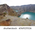 colorful crater lakes of... | Shutterstock . vector #656925526