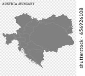 High quality historical map of Austria-Hungary with borders of the regions. Austro-Hungarian monarchy