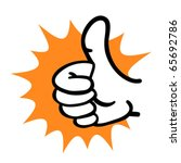 cartoon hand thumb up gesture.... | Shutterstock .eps vector #65692786