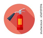 fire extinguisher flat icon... | Shutterstock .eps vector #656939596