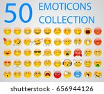 set of emoticons  emoji... | Shutterstock . vector #656944126