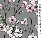 flowers pattern. seamless... | Shutterstock .eps vector #656945452