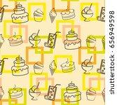pattern. background texture.... | Shutterstock .eps vector #656949598