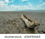 Old Wooden Fishing Boat Dry...