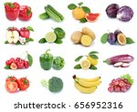 fruits and vegetables... | Shutterstock . vector #656952316