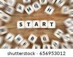 Small photo of Start starting beginning dice business concept idea