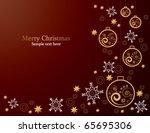 christmas card | Shutterstock .eps vector #65695306