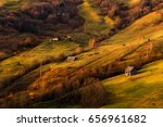 a beautiful autumn rural... | Shutterstock . vector #656961682