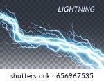 lightning and thunder bolt or... | Shutterstock .eps vector #656967535