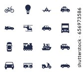 set of 16 shipping icons set... | Shutterstock .eps vector #656973586