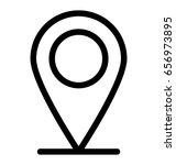 gps vector icon | Shutterstock .eps vector #656973895