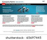 corporate website template | Shutterstock .eps vector #65697445
