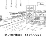 grocery store shop interior... | Shutterstock .eps vector #656977396