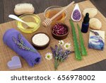 medicinal herbs  flowers and... | Shutterstock . vector #656978002
