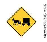 road sign   amish buggy and...   Shutterstock .eps vector #656979166