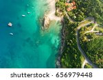 aerial shot of beauty bay... | Shutterstock . vector #656979448