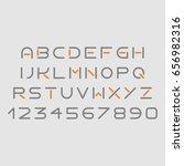 futuristic grey and orange font ... | Shutterstock .eps vector #656982316