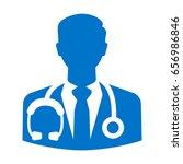 doctor vector icon. physician... | Shutterstock .eps vector #656986846