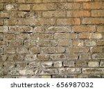 old grey brick wall | Shutterstock . vector #656987032