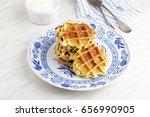 homemade fresh baked zucchini... | Shutterstock . vector #656990905