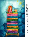 the princess and the pea....   Shutterstock . vector #656998396