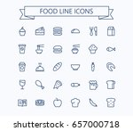 food vector mini icons set.... | Shutterstock .eps vector #657000718