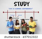 education college literacy... | Shutterstock . vector #657012322
